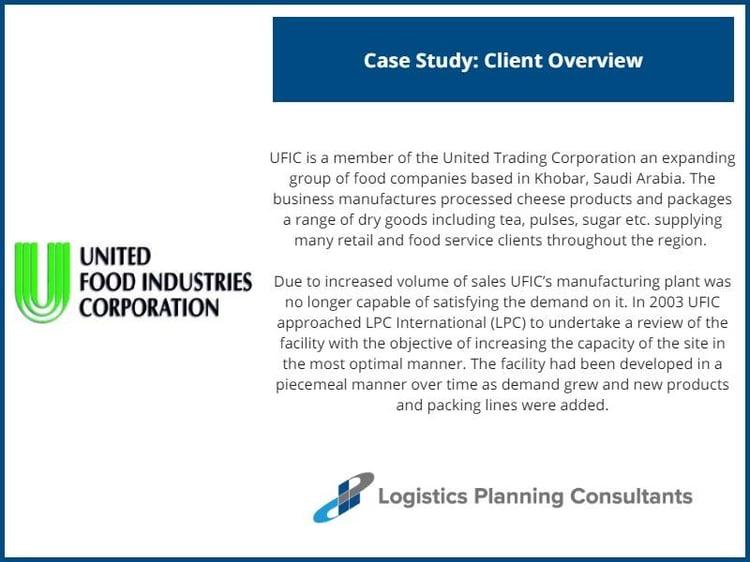 United Food Industries Corporation Saudi Arabia - Facility Re